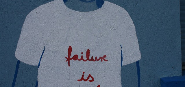 "Wall graffiti with text ""failure is cool"""