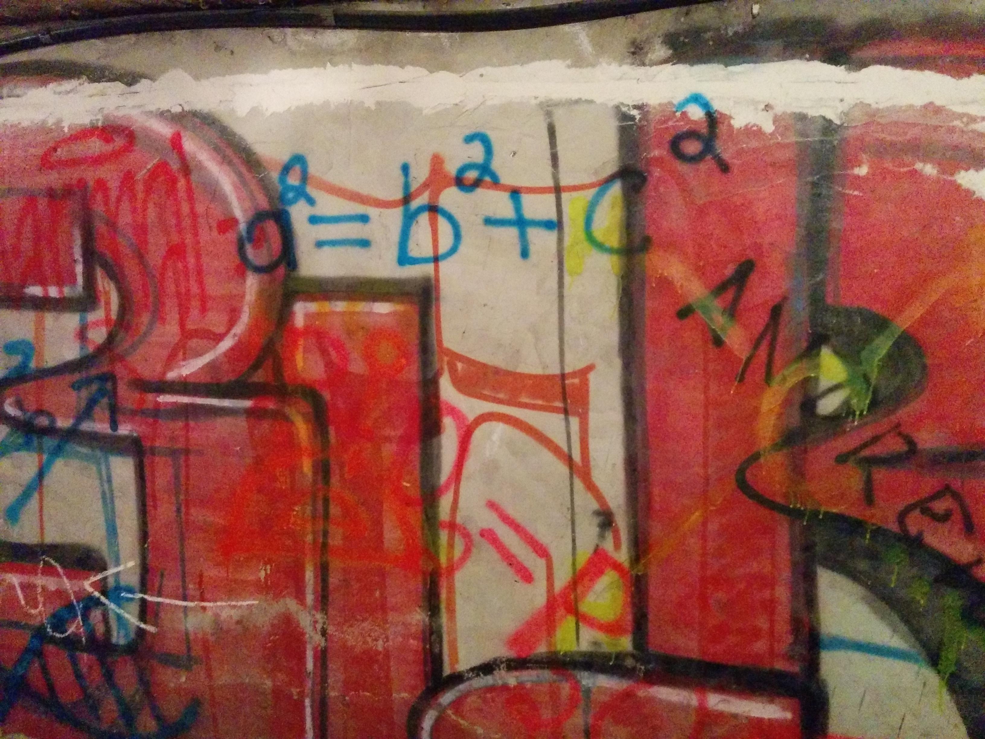 Graffiti in Chisinau. Pythagorean theorem.