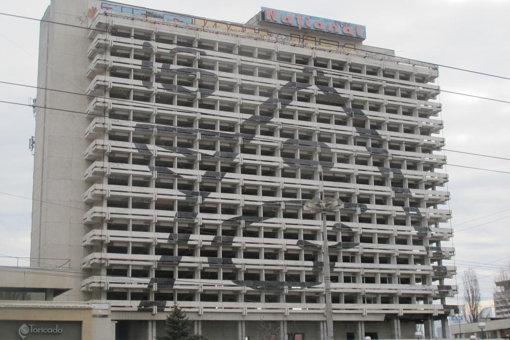 Graffiti in Chisinau. Building-size graffity.