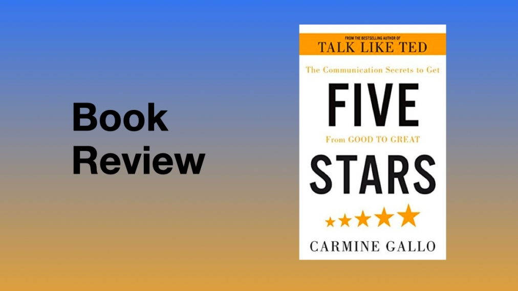 Book review. Five Stars by CarmineGallo