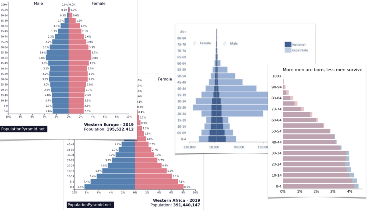Exploring alternatives to population pyramids